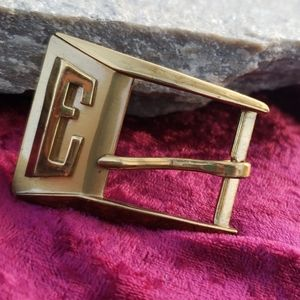 Antique Art Deco Made in Paris E Brass Belt Buckle